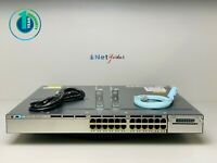 Cisco WS-C3750X-24P-S • 24 Port PoE Gigabit Switch ■1 YR WARRANTY • SAMEDAYSHIP■