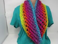 Handcrafted Knitted Cowl Wrap Shawl 100% Merino Wool Female Adult Multi-Color
