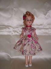 """Doll 7"""" storybook """"Dress Me"""" #20 Blonde Sleep eyes Walker original dress"""