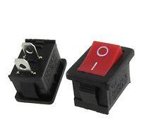 PULSANTE INTERRUTTORE ON/OFF 6A 250V rettangolare rosso switch