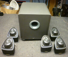 Mirage Nanosat 5.1 Compact Home Theater Speaker System 5 Satellites & Subwoofer