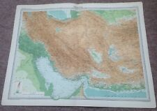 "VINTAGE ""PERSIA"" MAP c1920 - VERY GOOD USED CONDITION"