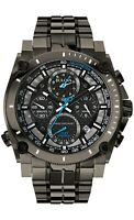 Bulova Men's Quartz Precisionist Chronograph Carbon Fiber 47mm Watch 98B229
