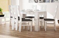 WHITE HIGH GLOSS EXTENDABLE DINING TABLE MODERN  EXTENDING 120+40 cm