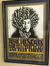 Pinnacle Concert Poster - Jimi Hendrix, Electric Flag, Blue Cheer 1968 - Signed