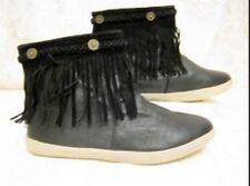 Fransen Boots Stiefelette Größe 38 Slouch Stiefelette Schwarz