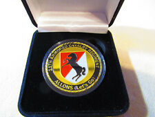 """US ARMY 11th ARMORED CAVALRY """"BLACK HORSE DIVISION"""" Challenge Coin w/ Gift Box"""