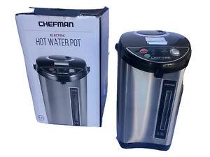 Chefman 5.3 Liter Electric Auto Dispense Hot Water Pot, StainlessSteel (OpenBox)