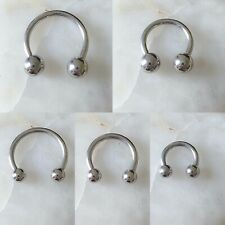 ASTM F136 Titanium CBB Horseshoe Septum Clicker Daith Rook Ear Ring - 3 Sizes