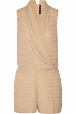 Textured V Neck Sleeveless Jumpsuits & Playsuits for Women