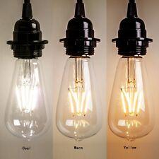 NEW Vintage E27 60W Edison Screw LED Energy Filament Bulb Light  ST64 Globe Lamp