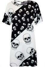 Ladies Womens Spooky Pumpkin Web Halloween Oversized Baggy Tee T-Shirt Dress New