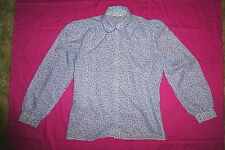 Vintage 80s Geek Chic blouse top Retro 12 patterned