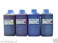 4X 1000ml Dye Ink Refill For Epson Refillable Cartridges CIS CISS B Y M C