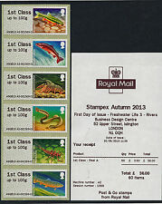 STAMPEX HYTECH TIII RIVERS POST & GO STRIP 6 X 1st FRESHWATER LIFE 3 A2 A3 or B1