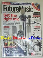 FUTURE MUSIC Magazine SEALED 205/2008 +dvd Get THE Right Mic Tricky Moby Benassi