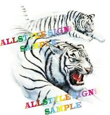 WHITE TIGERS , CAR MOTORBIKE WALL TILE DECAL, STICKERS