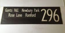 "Rainham Bus Blind 97(42"") 296 Gants Hill Newbury Park Rose Lane Romford"