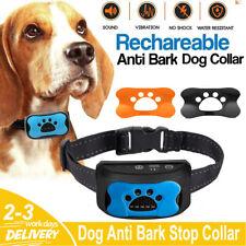 More details for dog anti bark collar stop barking sound & vibration adjustable s/m/l 3 shell lf