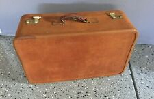 """T ANTHONY LTD Classic Suitcase 26"""" Hardsided Packing Case Suede British Tan GUC"""