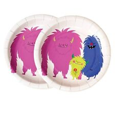 dotcomgiftshop SET OF 8 MONSTERS OF THE WORLD TEA PARTY PAPER PLATES