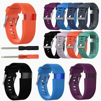 Replacement Silicone Wrist Band Strap Bracelet for Fitbit Charge HR Tracker L/S