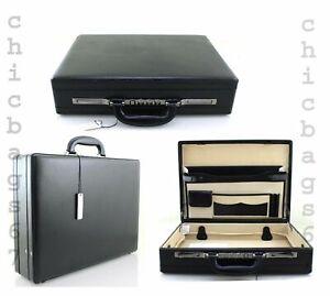 Executive Premium Quality Faux Leather Briefcase Business Work Attache Case Bag