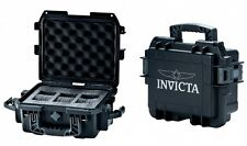 Invicta Three-Slot Black Durable Plastic Watch Case DC3BLK