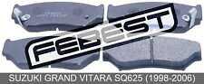 Pad Kit, Disc Brake, Front For Suzuki Grand Vitara Sq625 (1998-2006)