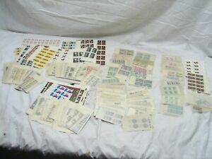 Large Lot Vintage US Stamps 4/5/6/8/10 1-1/4 Cent $100 Face Mint Block