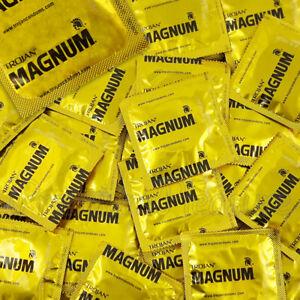 Trojan Magnum Grande Condones Lubricados más Grande Tamaño King más Ancho