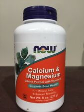 NOW Foods - Calcium and Magnesium Citrate Powder With D3 - 8 oz (227g)