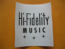WURLITZER JUKEBOX 2300, 2300s HI-FIDELITY MUSIC - STICKER (90mm x 83mm)
