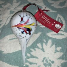 Handmade Glass Ornament Handcrafted in Poland Holiday Zorza Christmas Decoration