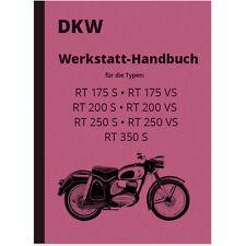 DKW RT 175 200 250 350 S vs istruzioni di riparazione montaggio OFFICINA-MANUALE REPAIR