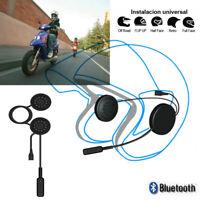 Handsfree Bluetooth Helmet Interphone Intercom Motorcycle Speakers Headset Music