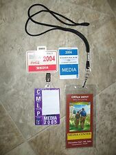 2005 Media Pass ID PGA Tour, Coca Cola Tour Chp. Pass, Chrysler Chp./ Father-Son