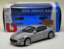 MASERATI GRAN TURISMO 1:43 Car Silver NEW Model Diecast Models Cars Die Cast