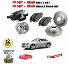 FOR CHRYSLER CROSSFIRE 3.2 2003-2007 NEW FRONT + REAR BRAKE DISCS SET & PADS KIT