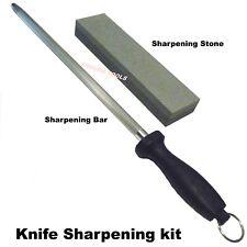 KNIFE SHARPENING BAR & A SHARPENING OIL STONE - BRAND NEW.