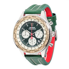 DETOMASO Firenze XXL Mens Wrist Watch Chronograph Green Stainless Steel New