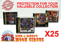 25x SEGA SATURN JAPAN OVERSIZED CD GAME CASE - CLEAR PROTECTIVE BOX PROTECTOR