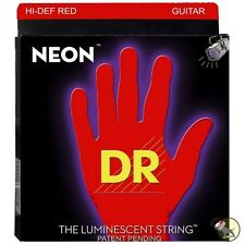 DR Strings NRB-45 Neon Red Coated Medium Bass Guitar Strings (45-105)