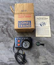 Lionel Type LW 125 Watts Vintage 1950's Transformer W/ Original Box, Instruction