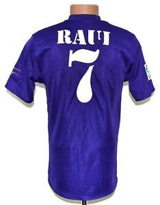 REAL MADRID 2002/2003 THIRD REVERSIBLE FOOTBALL SHIRT ADIDAS #7 RAUL SIZE S