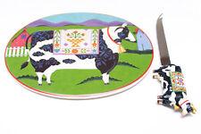 Jim Shore (corral) quesos placa y juego de cuchillo.