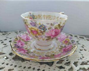 1 Tazzina tazza con piattino porcellana inglese tè caffè ROYAL ALBERT Serena