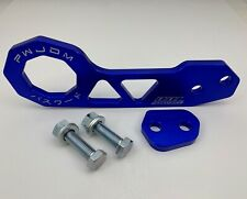 Alert Red Universal Rear Tow Hook Ring Kit For Honda Civic Acura Integer Jdm Racing Exterior Parts