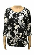 M&Co Scoop Neck Floral Tops & Shirts for Women
