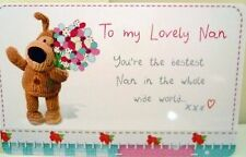 """""""BOOFLE"""" HEART WARMER KEEPSAKE MESSAGE CARD """"TO MY LOVELY NAN"""" MOTHER'S DAY GIFT"""